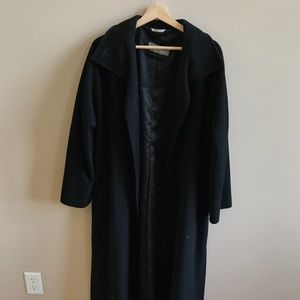 MAX MARA icon black side slit long duster coat